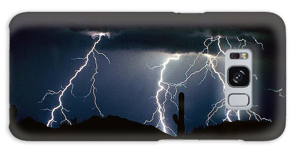4 Lightning Bolts Fine Art Photography Print Galaxy Case