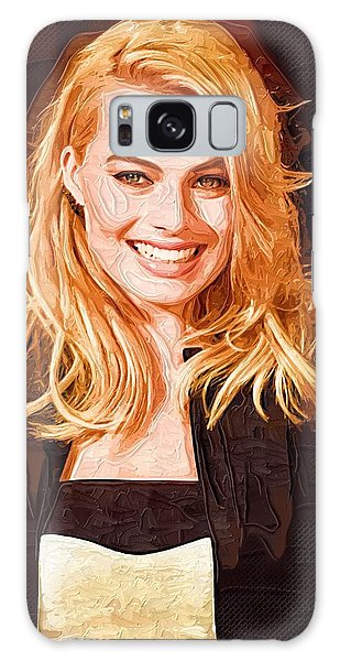 Margot Robbie Painting Galaxy Case