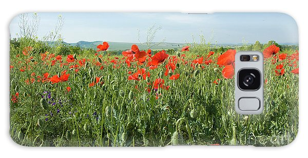 Meadow With Red Poppies Galaxy Case