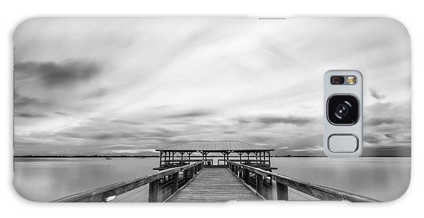 Melbourne Beach Pier Sunset Galaxy Case
