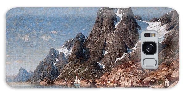 Norwegian Fjord Landscape Galaxy Case