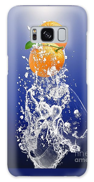 Orange Splash Galaxy Case
