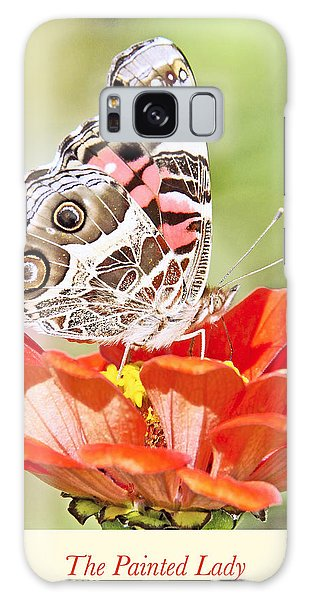 Painted Lady Butterfly On Zinnia Flower Galaxy Case