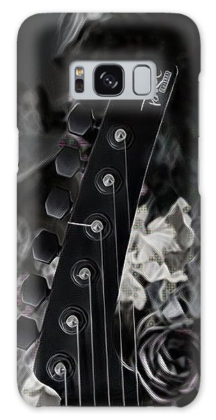 Galaxy Case featuring the digital art Parker Fly Guitar Headstock by Guitar Wacky