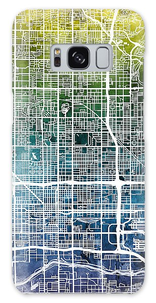 Phoenix Galaxy S8 Case - Phoenix Arizona City Map by Michael Tompsett
