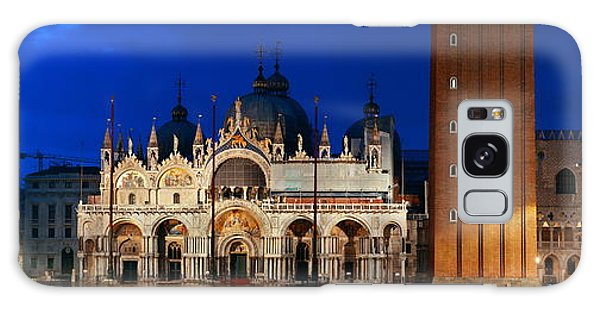 Galaxy Case featuring the photograph Piazza San Marco Night by Songquan Deng