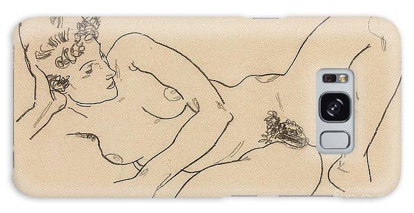 Beautiful Girl Galaxy Case - Reclining Nude by Egon Schiele