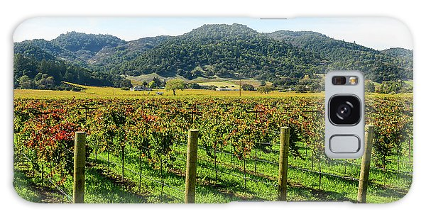 Rows Of Grapevines In Napa Valley California Galaxy Case