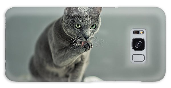 Basket Galaxy Case - Russian Blue by Nailia Schwarz