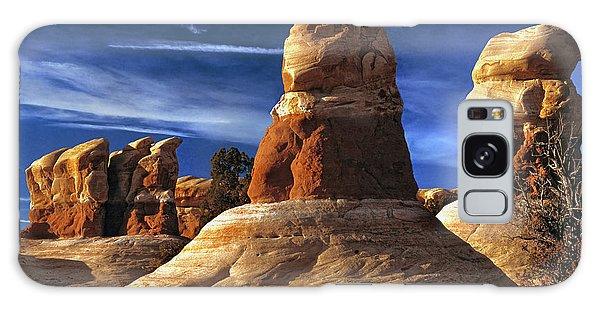 Sandstone Hoodoos In Utah Desert Galaxy Case