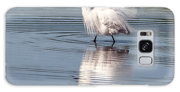 Snowy Egret Galaxy Case by Tam Ryan