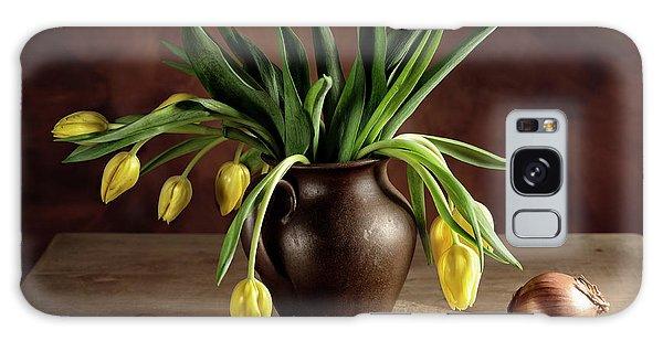 Potato Galaxy Case - Still Life With Tulips by Nailia Schwarz