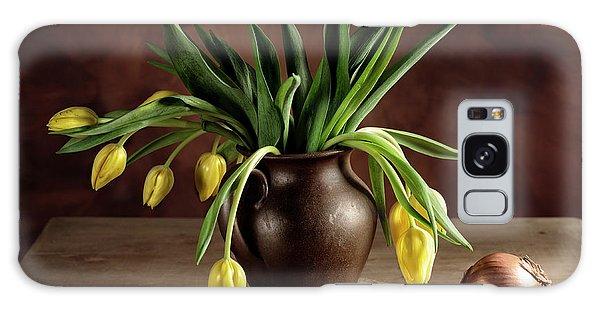 Onion Galaxy S8 Case - Still Life With Tulips by Nailia Schwarz