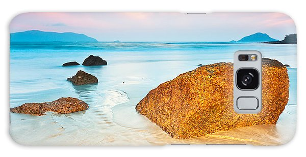Beach Sunset Galaxy Case - Sunrise by MotHaiBaPhoto Prints