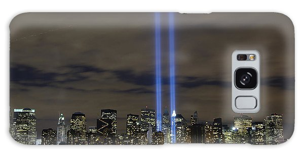 Galaxy Case featuring the photograph The Tribute In Light Memorial by Stocktrek Images