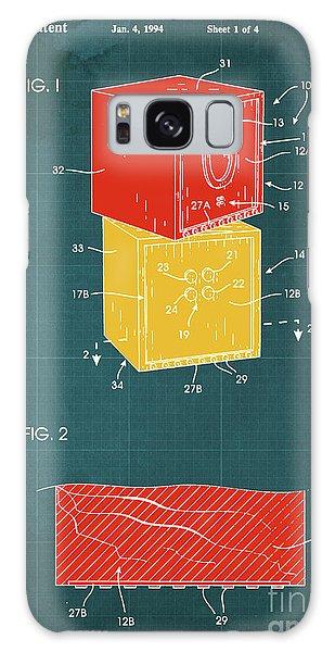 Bricks Galaxy Case - Toy Building Brick Patent Year 1958 Blueprint by Drawspots Illustrations