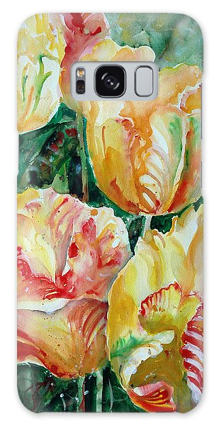 Tulips Galaxy Case by Alexandra Maria Ethlyn Cheshire