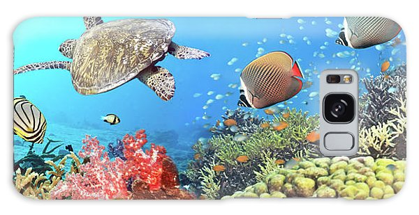 Scuba Diving Galaxy Case - Underwater Panorama by MotHaiBaPhoto Prints