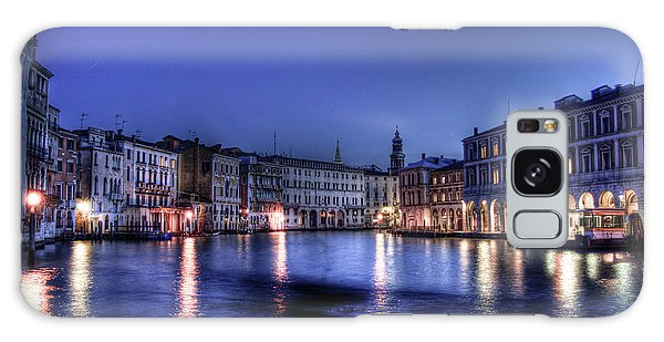 Venice By Night Galaxy Case by Andrea Barbieri