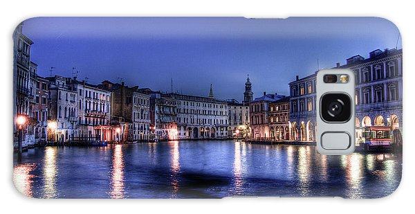 Venice By Night Galaxy Case by Andrea Barbieri