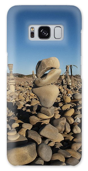 Ventura River Rock Art Galaxy Case