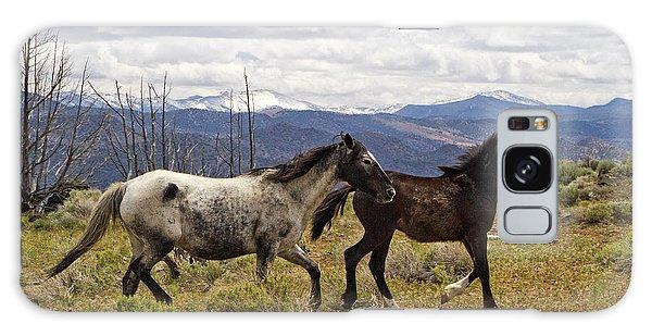 Wild Mustang Horses Galaxy Case