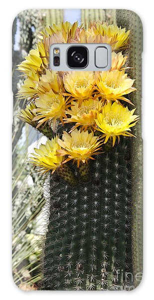 Yellow Cactus Flowers Galaxy Case