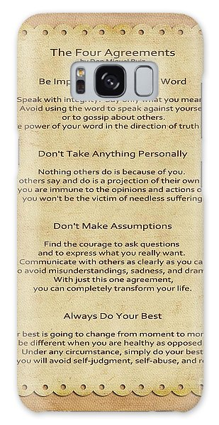 Spirituality Galaxy Case - 41- The Four Agreements by Joseph Keane