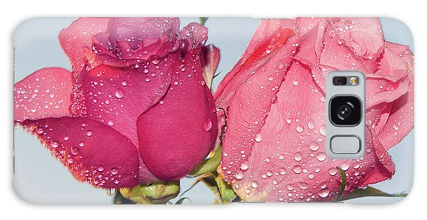 Two Roses Galaxy Case by Elvira Ladocki