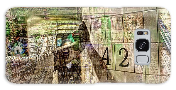 42nd Subway Collage Galaxy Case by Dave Beckerman
