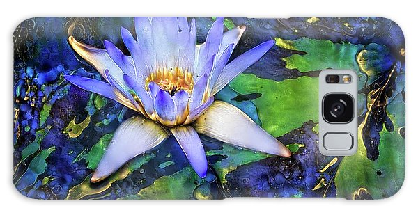 Jeweled Water Lilies Galaxy Case
