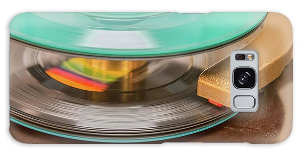 Galaxy Case featuring the photograph 45 Rpm Record In Play Mode by Gary Slawsky