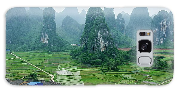 The Beautiful Karst Rural Scenery In Spring Galaxy Case