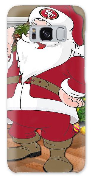Santa Claus Galaxy Case - 49ers Santa Claus by Joe Hamilton