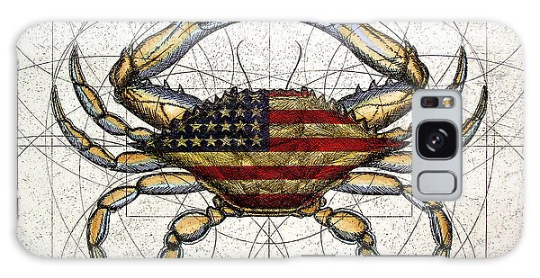 4th Of July Crab Galaxy Case