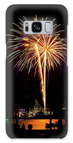 Galaxy Case featuring the photograph 4th Of July Fireworks by Bill Barber