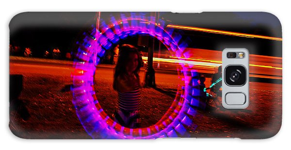 4th Of July - Glow Sticks On A String Galaxy Case by George Bostian