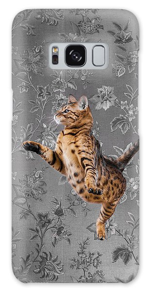 Bengal Cat Jumping Galaxy Case