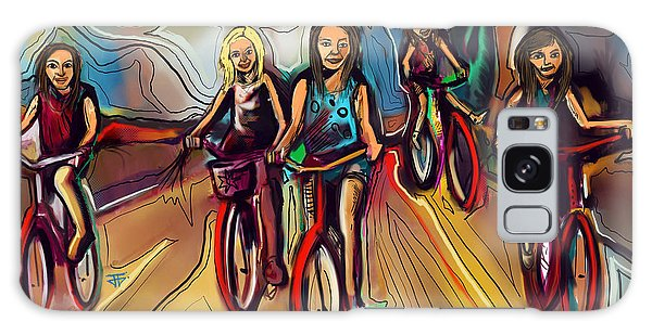 5 Bike Girls Galaxy Case