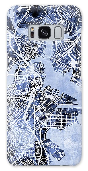Boston Massachusetts Street Map Galaxy Case