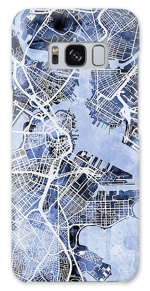 City Map Galaxy Case - Boston Massachusetts Street Map by Michael Tompsett