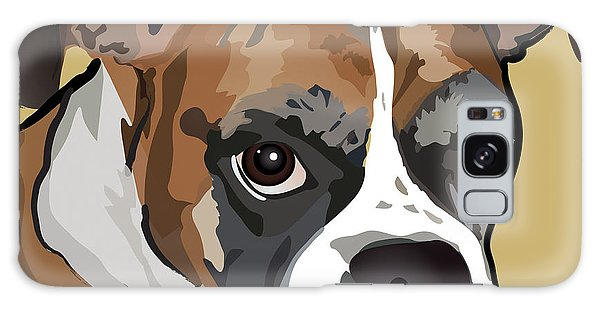 Boxer Dog Portrait Galaxy Case