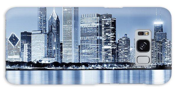 Chicago Skyline At Night Galaxy Case