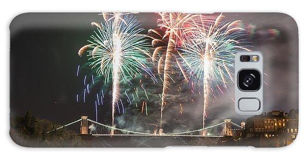 Clifton Suspension Bridge Fireworks Galaxy Case
