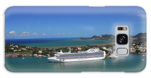 Galaxy Case featuring the photograph Cruise Ship In Port by Gary Wonning
