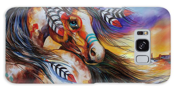 5 Feathers Indian War Horse Galaxy Case