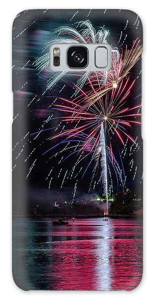 Fireworks Over Portland, Maine Galaxy Case
