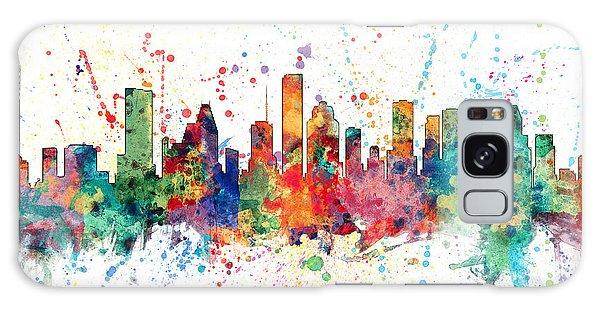 Usa Galaxy Case - Houston Texas Skyline by Michael Tompsett