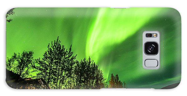 Northern Lights, Aurora Borealis At Kantishna Lodge In Denali National Park Galaxy Case