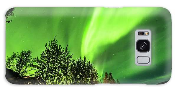 Northern Lights, Aurora Borealis At Kantishna Lodge In Denali National Park Galaxy Case
